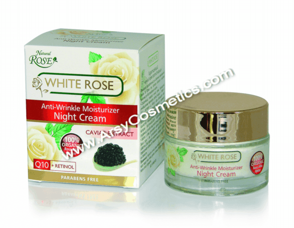НОЩЕН КРЕМ ORGANIC WHITE ROSE WATER CAVIAR